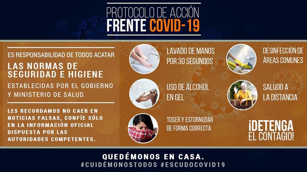 Protocolo de Acción frente COVID-19